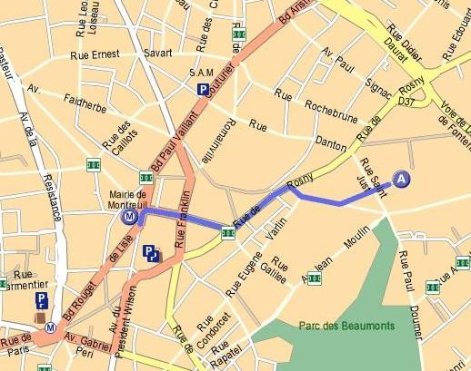 Association Murs à Pêches  Impasse de Gobétue 93100  ~ Plan De Montreuil Sous Bois